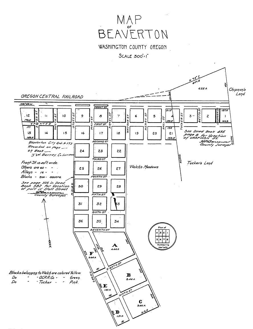 Map of Township Plat (1868)