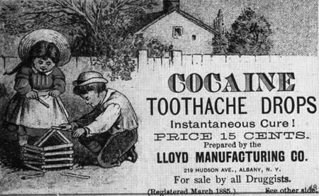 Cocaine Toothache Drops ad